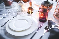 White Tableware Royalty Free Stock Photography