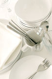White tableware Stock Image