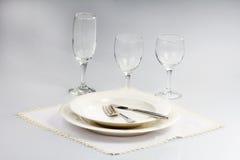 White tableware Stock Photo