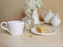 White tableware Stock Images