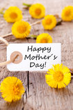 White Tag with Happy Mothers Day Stock Photos
