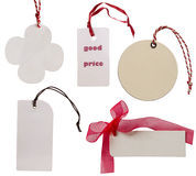 White tags Stock Images