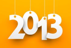 White tags with 2013 Royalty Free Stock Images
