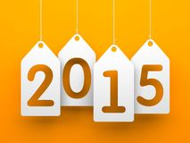 White tags with 2015 Royalty Free Stock Images