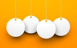 White tags on orange background Royalty Free Stock Photography