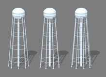 White tall water tower Stock Photo