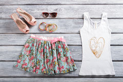 White tank top and skirt. Stock Photo