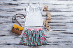 White tank top and skirt. Stock Image