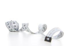 White tape measuring Royalty Free Stock Photos