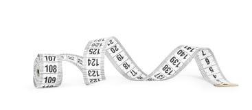 White tape measuring Stock Photo