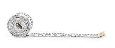 White tape  measuring Stock Photography