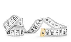 White tape measuring Royalty Free Stock Image