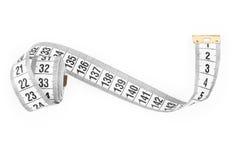 White tape measuring. Royalty Free Stock Image