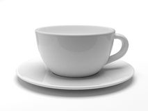 White tea cup. On white background Stock Image