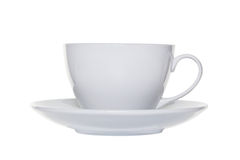 White tea cup and saucer cut out Royalty Free Stock Photo