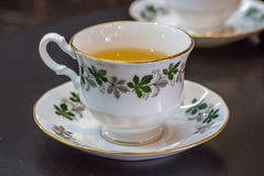 White tea cup stands Stock Photography