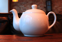 White tea kettle Royalty Free Stock Photography