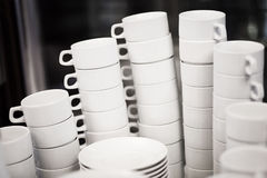 White tea mugs Stock Photos