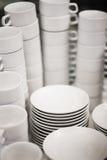 White tea mugs Stock Image