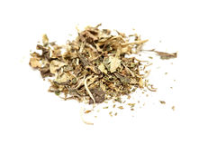 White tea  Pai Mu Tan leaves isolated Royalty Free Stock Photo