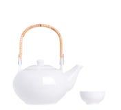 White tea pot Royalty Free Stock Photos