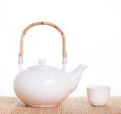 White tea pot Royalty Free Stock Photography