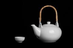 White tea pot Stock Photo