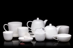 White tea service Royalty Free Stock Photos