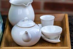 White tea set Royalty Free Stock Photo