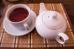 White Tea and Tea Cup Stock Images