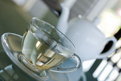 White Tea in transparent cup Stock Image