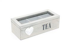 White teabox isolated Royalty Free Stock Photography