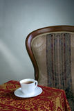 White teacup on the table Royalty Free Stock Photos
