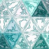 White and teal gradient triangles, abstract geometric transparent background. Teal gradient triangles, abstract geometric transparent background vector illustration