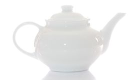 White Teapot Stock Images