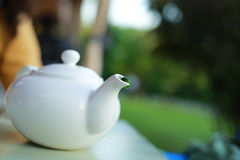 White teapot Stock Photos