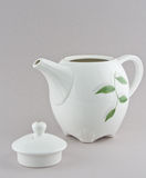 White teapot and  cups Stock Photography