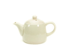 White teapot isolated. Stock Photo