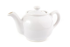 White teapot over white Royalty Free Stock Photography
