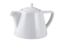 White teapot on a white background.  royalty free stock photography
