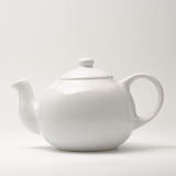 White teapot on white Royalty Free Stock Image
