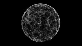 White technology sphere connectivity animation Royalty Free Stock Image