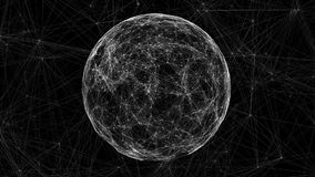 White technology sphere connectivity animation Stock Photos