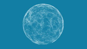 White technology sphere connectivity animation Royalty Free Stock Photography