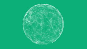 White technology sphere connectivity animation Royalty Free Stock Photos