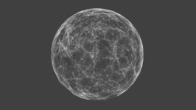 White technology sphere connectivity animation stock video
