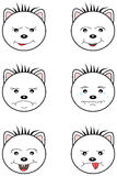 White Teddy Bear emoticons. White  emoticons in Teddy Bear face shape Stock Photo