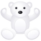 White teddy bear toy Royalty Free Stock Photos