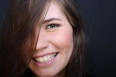 White teeth. Smiling woman with white teeth Stock Photos
