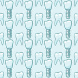 White teeth on blue background. Vector Stock Image
